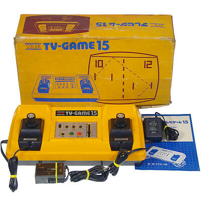 Nintendo PONG COLOR TV-GAME15 CTG-15S Japan Import 1977 Working Tested Complete