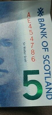 bank of scotland £5 note number 786