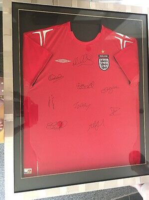 England Signed Football Shirt Framed