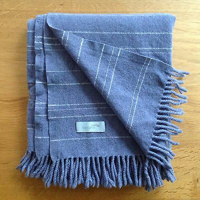 British Airways CONCORDE lambswool blanket BLUE