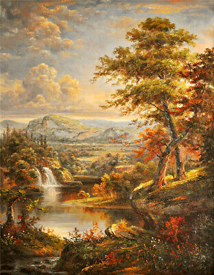 Paint By Numbers Kit Canvas 50*40cm 8214 Autumn National Park AU Shipping