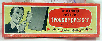 vintage Pifco electric trouser press boxed ironing laudry press