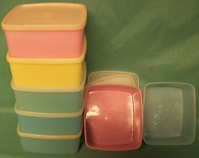 Tupperware Square Rounds x7