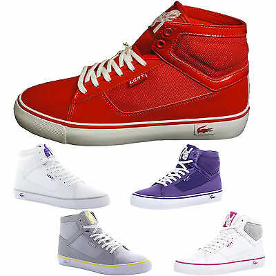 c01e6611888728 Lacoste Vaultstar MID Women s Mid Top Leather Textile Lace Up Casual  Trainers