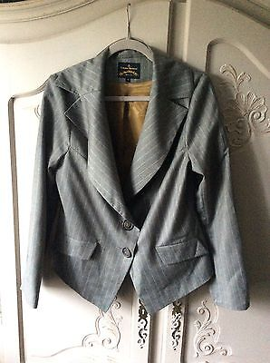 vivienne westwood anglomania striped skirt suit BNWOT 46 14 grey