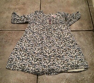 Baby Girls Floral Blouse Size 6-12 Months By Feu Follet