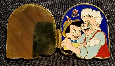 Retired 2001 Disney Wdw Happy Father's Day Gepetto & Pinocchio Book Pin Le 3500
