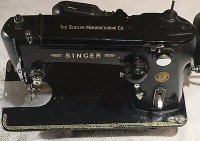 Vintage 1950's Singer 306K Sewing Machine Heavy Duty Sew Pedal Electric NICE