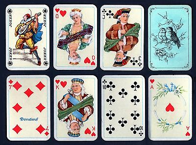 DONDORF MINIATURE PATIENCE PLAYING CARDS-2 SETS OF 55-VINTAGE 1930s