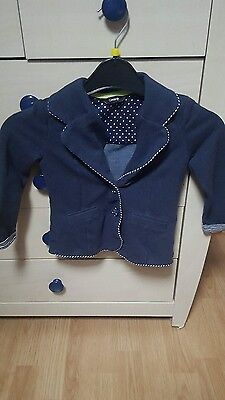girls navy blazer age 2-3