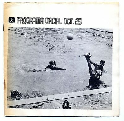 Programme Olympic Games MEXICO 25.10.1968 - WATER  POLO