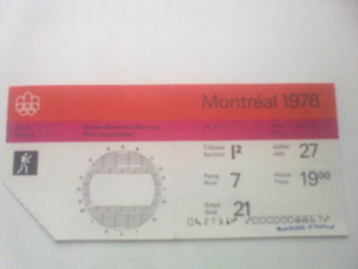 Ticket Olympic Games MONTREAL 27.07.1976 - BOXING (19:00)