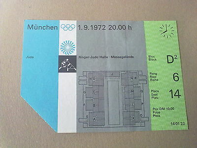 Ticket Olympic Games MÜNCHEN 1972 - JUDO 1.09.1972