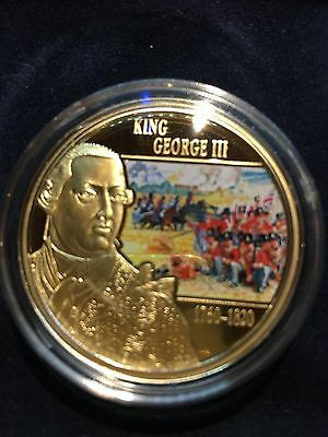 1 Dollar Gold Plated Coin - Cook Islands - Battle of Waterloo 2015