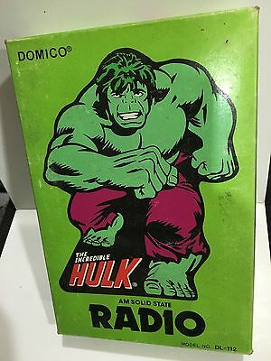 Vintage Novelty Marvel Hulk Radio Band Am-(Mw) 1970S &box