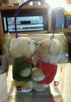 Forever Friends Pair of Magnetic Kissing Bear's  with Tags & Presentation Box