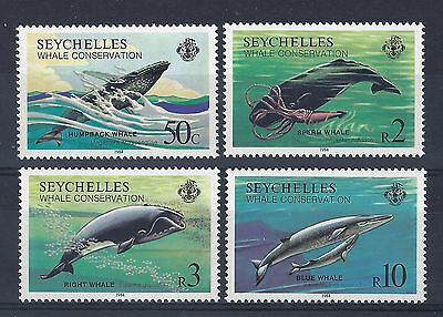 Seychelles - Sg 601-604 Mnh 1984 Whale Conservation Post Free To The Uk.