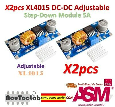 2pcs 5A XL4015 DC-DC Step Down Adjustable Power Module LED Lithium Charger