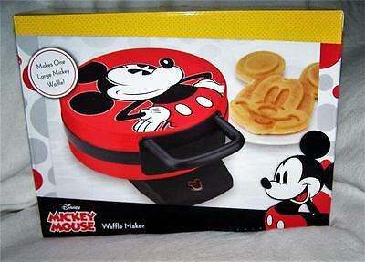 NEW IN BOX Disney Mickey Mouse Waffle Maker Red Black ~~SO MUCH FUN!!!
