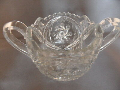 "EAPG Indiana Glass Sugar Bowl ""Double Pinwheel"" Beatty-Brady ""Juno"" 1915 Antique"