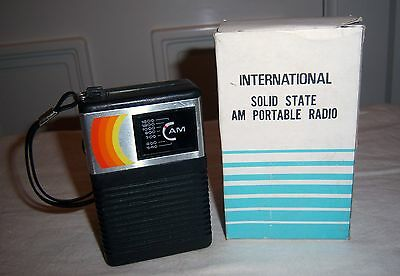 International Solid State Am Portable Radio