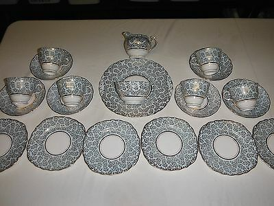 Shabby Chic 21 piece dinner service Colclough bone china