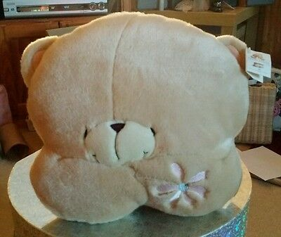 Forever Friends Vintage Plush Teddy Bear Cushion,  with Tags