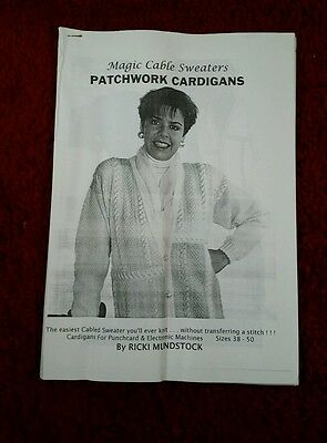 patchwork machine knitting patterns by ricki mundstock.see description and photo