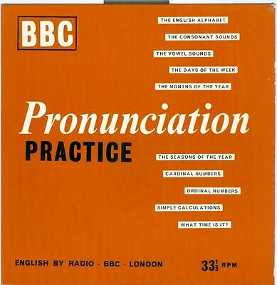 BBC PRONUNCIATION PRACTICE ==SLEEVE ONLY==   GOOD condition