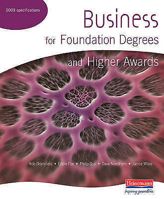 Business for Foundation Degrees and Higher Awards, Wilde, Janice Paperback Book