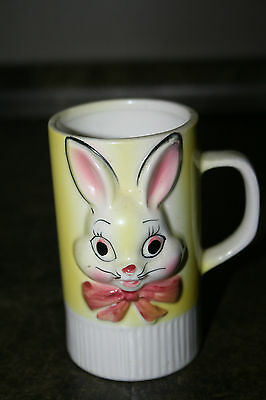 Vintage Bunny Rabbit Face Mug Childs Cup Made in Japan 1960's ? Character Mug