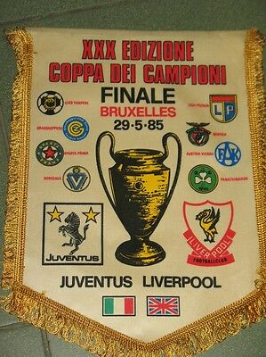 JUVENTUS TURIN - FC LIVERPOOL  Champions League FINAL BRUSSELS 1985