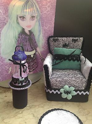 ✪monsters@home✪Sessel Couch f. Monster High Twyla✪Möbel✪Gothic Rockability