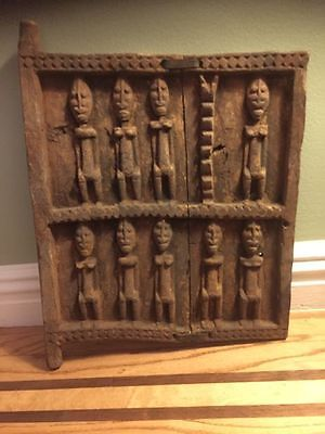 DOGON Granery Door - Mali, West Africa - Hand Carved with Figures