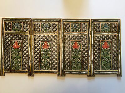 Beautiful Hand Carved & Painted Indian Screen Panel