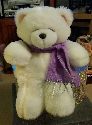 Forever Friends Vintage White Plush Teddy Nightdress Cover,  with Tags