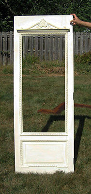 antique Shabby & Charmingly Chic DOOR w/ CARVED CROWN