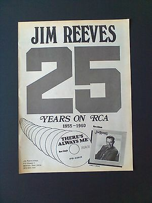 "JIM REEVES ""25 Years On RCA"" 1980 Original Promo Poster Ad"