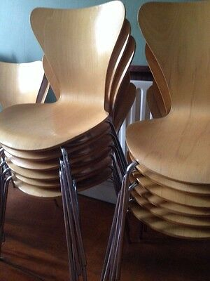12 Wooden Modern Chairs Restaurant Pub Cafe Great Condition Job Lot Or Single