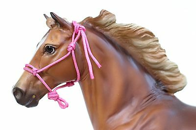 Pink Traditional Breyer/Peter Stone Model Horse Rope Halter