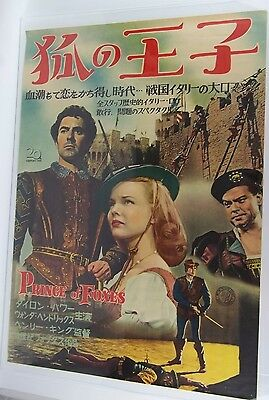 Original 1949 PRINCE OF FOXES Japanese B2 Movie Poster MPEA Japan Export