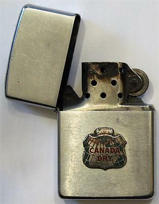1983 Canada Dry Zippo Advertising Lighter,Full Size, Uncommon,Used,Free Shipping