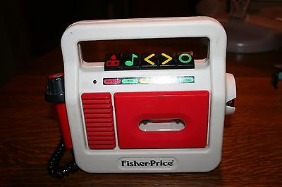 Vintage Child 1987 Fisher Price Tape Cassette Player Recorder Classic Model 3808