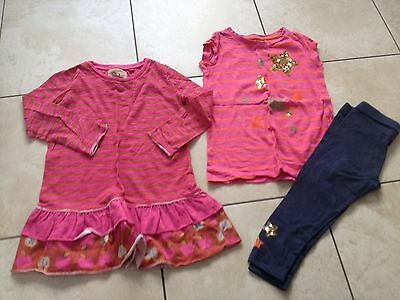 Next Girls Star T-Shirt / Leggings Outfit & Apple Dress Age 3 & 2-3Yrs. VGC.