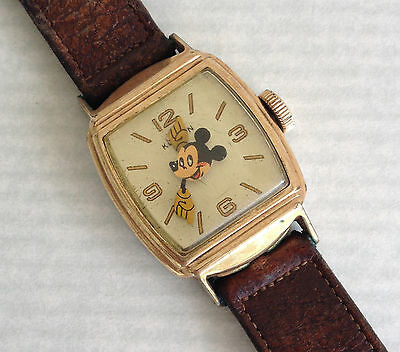 Rare Kelton 1946 Variant 2 Mickey Mouse Character Watch Lot Running L@@K