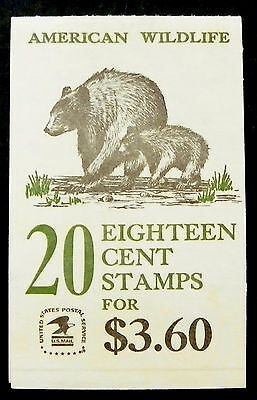 Scott BK137 US 20c Wildlife (Complete Booklet Plate #11) Unused OG (E26)