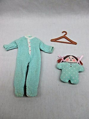 Eden Gifts MADELINE & FRIENDS Green Footed Pajamas w/ Baby Doll & Hanger #84205