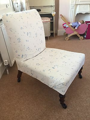 Beautiful Vintage Nursing Chair Reupholstered In Cabbages & Roses