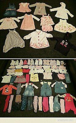 Baby Girls 6-9 months clothes bundle 81 items 2