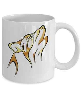 Wolf Collectors 11 oz White Ceramic Coffee Mug